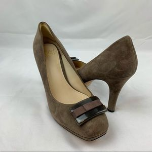 Joan & David Taupe Suede Pumps Size 9
